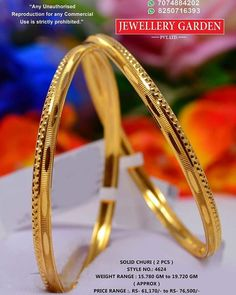 Gold Bangles For Women, Gold Bangles Design, Gold Earrings Designs, Jewellery Designs, Gold Jewelry Simple, Gold Jewellery, Simple Necklace, Pearl Jewelry, Gold Bridal Earrings