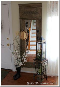 diy hall mirror