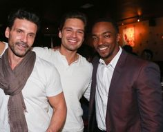 Frank Grillo, Sebastian Stan, and Anthony Mackie