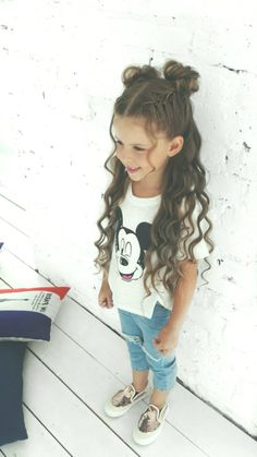 Amazing Sweet Hairstyles For Your Sweet Daughter – Hairstyles For Kids - Best Frisuren ideen Easy Little Girl Hairstyles, Sweet Hairstyles, Teenage Hairstyles, Cute Hairstyles For Short Hair, Fringe Hairstyles, Black Girls Hairstyles, Curly Hair Styles, Short Hair For Kids, Toddler Hair