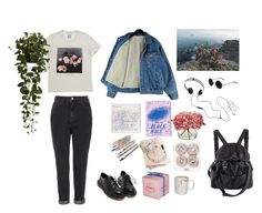 """""""#42"""" by eugecazzari ❤ liked on Polyvore featuring Nearly Natural, AIAIAI, Topshop and H&M"""