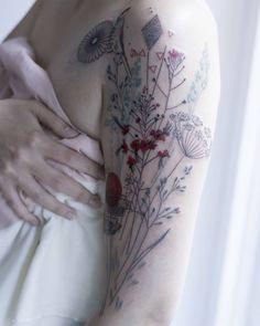 Delicate Tattoos Mimic the Natural World by Marta Lipinski. http://illusion.scene360.com/art/100657/marta-lipinski/