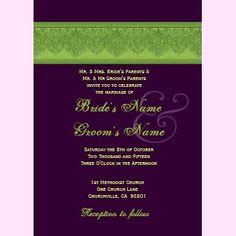 eggplant purple and lime green wedding - Google Search