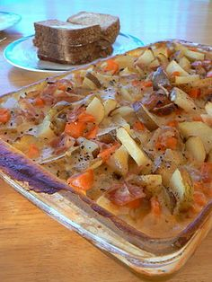 Potato, Ham and Carrot Casserole