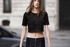 crop top + zippered skirt (zara ss14 lb)