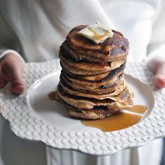 Almond Flour and Bourbon Vanilla Pancakes for Christmas Morning #brunch #breakfast