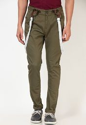 Upgrade your casual wear collection with this pair of green coloured casual trousers from United Colors of Benetton. This pair of slim-fit trousers will fit you perfectly and add a touch of glamour to your appearance. The blend of 98% cotton and 2% spandex fabric makes this pair extremely comfortable to wear.