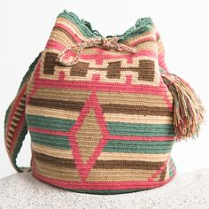 Wayuu Boho Bags with Crochet Patterns Tapestry Bag, Tapestry Crochet, Knit Crochet, Crochet Handbags, Crochet Purses, Crochet Bags, Mochila Crochet, Bag Pattern Free, Boho Bags
