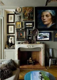 Camouflage your TV into your gallery wall