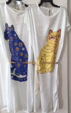 1970's Abba Cat Motif Dress for Ladies Fancy Dress