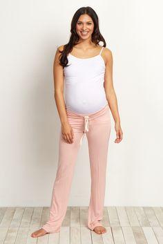 Light Pink Drawstring Pajama Pants