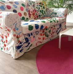 So happy with my Ikea Ektorp :) I gave it a new look with paint. Jute, New Look, Ikea, My Arts, Couch, Happy, Blog, Painting, Furniture