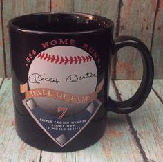 Hall Of Fame Mickey Mantle Mug Coffee Cup Baseball Home Runs MLB Sports Fan | eBay