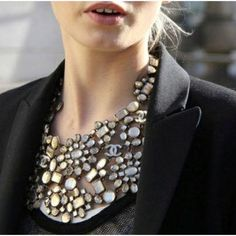 Bejeweled necklines are the best kind of necklines
