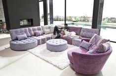 Photo de canapé parme et violet → touslescanapes.com