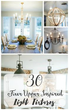 30 Fixer Upper inspired light fixtures Want to get in on the HGTV Fixer Upper style? I've rounded up 30 light fixtures from Parrot Uncle inspired by Joanna Gaines' signature style. All available online and at all different budgets. Add some farmhouse sty Decor, Fixer Upper Inspired, Lighting Inspiration, Farmhouse Dining Room, Home Decor, Dining Light Fixtures, Fixer Upper Light Fixtures, Joanna Gaines Light Fixtures, Fixer Upper Lighting