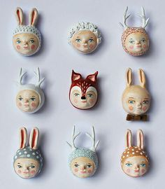 Odd, but somehow intriguing ... goes with the embroidered faces in round frames idea?
