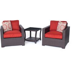 Metro3pc Seating Set: 2 Side Chairs, 1 Side Table - METRO3PC-B-BRY - Brown/Berry