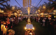 Not every function requires flooring. As you can see an authentic garden wedding is possible if you venue has a great lawn. The lighting makes for a very romantic fairytale wedding. Carpe Diem, Clear Marquee, Long Painting, 2018 Wedding Trends, Lost In The Woods, Marquee Wedding, Real Weddings, Destination Weddings, Garden Wedding