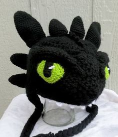 Toothless hat I made for grandkids.