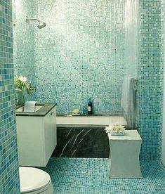 MERMAID!   Sparkle Blue Bathroom? Yes Please!