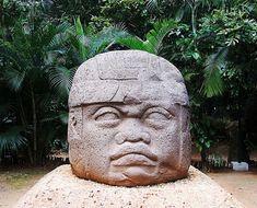 Cabeza Olmeca, Tabasco, México