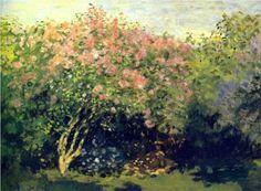 Lilacs in the Sun - Claude Monet, 1872