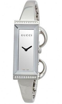 962d771b0a1 Gucci Quartz YA127505 Mirror Dial Stailess Steel Diamond Bezel Ladies Watch  Bulova