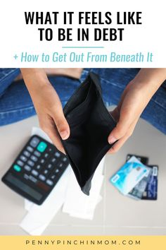 More than 32 million consumers have higher-interest debt, an average of $8,600 per U.S. household to be exact! Find out how you can get out from underneath debt and reach financial bliss. Ways To Save Money, How To Get Money, Money Saving Tips, Saving Ideas, Credit Card Hacks, Paying Off Credit Cards, Get Out Of Debt, Managing Your Money, Budgeting Money