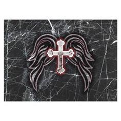 Laptop Skin – Cross & Wings   LAPCROS