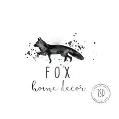 Fox Logo-Watercolor Logo-Business by JupiterStreetDesigns on Etsy
