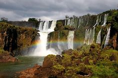 Iguazu has both a Brazilian and Argentinean side. The waterfalls are shared by national parks in both these countries.