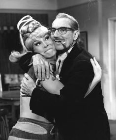 Barbara Eden and Groucho Marx