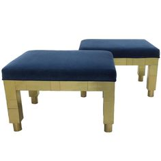 1977 Paul Evans for Directional Cityscape Brass Benches, Pair 1