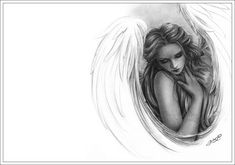 angel sketches   Zindy-Zone.dk - New Drawings - Fantasy Drawings - With you now Angel