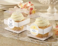 Personalized Cupcake Boxes. Priced as low as $14.00/Set of 12