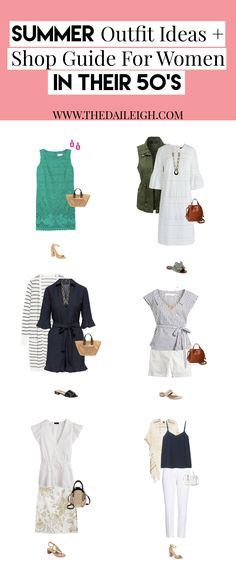 [Women's fashion]Summer Outfits Women over 50 fashion over 50 Cool Summer Outfits, Summer Fashion Outfits, Casual Summer Dresses, Summer Dresses For Women, Nice Dresses, Spring Outfits, Outfit Summer, Over 50 Womens Fashion, Fashion Over 50