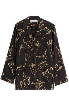 VALENTINO Printed Silk Blouse. #valentino #cloth #blouses