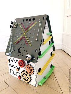 Развивающие игрушки ручной работы. Бизиборд домик ночник детский. Bunny Board. Интернет-магазин Ярмарка Мастеров. Бизиборд