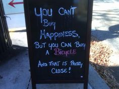 You can't buy happiness, but you can buy a #bicycle!