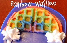 rainbow waffles- st patty's day??