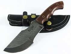 Special Offers - Moorhaus Handmade Random Damascus G10 Brown Micarta Tracker Knife With Black Sheath - In stock & Free Shipping. You can save more money! Check It (June 21 2016 at 09:19AM) >> http://huntingknivesusa.net/moorhaus-handmade-random-damascus-g10-brown-micarta-tracker-knife-with-black-sheath/