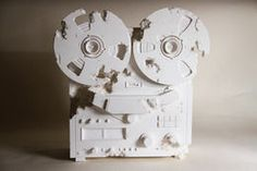 Crystal Eroded Reel to Reel,, 2013, by Daniel Arsham