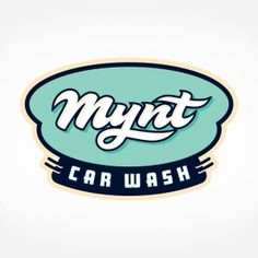 Retro logo for a car wash located in Boston, MA.
