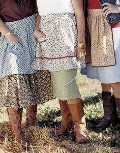Aprons and prairie prints. .. for the western country girl.