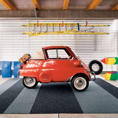 Working Class carpet tiles by FLOR Bmw Isetta, Microcar, Cute Cars, Small Cars, Grey Carpet, Car Humor, Car Pictures, Vintage Cars, Dream Cars