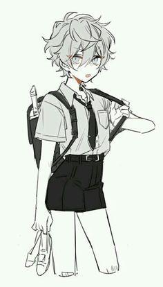 un chico común y corriente es llamado por una entidad absoluta que se… #fanfic # Fanfic # amreading # books # wattpad Anime Drawings Sketches, Anime Sketch, Cute Drawings, Cute Art Styles, Cartoon Art Styles, Cute Anime Boy, Anime Boys, Anime Boy Hair, Dark Anime Guys