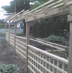 landscape fencing for vines | fence is designed to be open and welcoming and to support kiwi vines ...