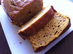 Yummy Pumpkin Bread. A great treat for the Fall.