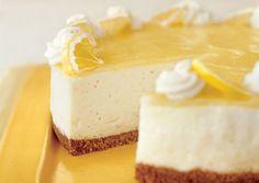 Lemon Curd Mousse Cake- light and not too lemony - just right. (Bon   Appetit)